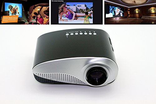 Aometech Led Mini Projector Fashionable Home Theater Support 1080P For Video Games Tv Movie Txt Music Pocket Size Projector-Black