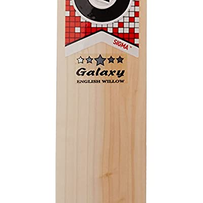 GM Galaxy English Willow Cricket Bat, Short Handle