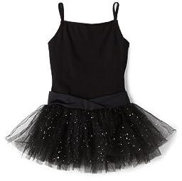 Capezio Big Girls' Camisole Tutu Dress,Black,M (8-10)