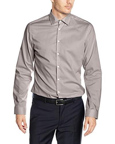 Seidensticker Camisa Vestir Super Slim Marrón