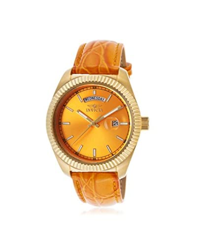 Invicta Women's 18278 Angel Orange Genuine Leather Watch