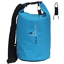 Premium Waterproof Dry Bag By SEASPEAK (Popular 10L) + Bonus Carabiner, Water Bottle Clip & Shoulder Strap. Designed...