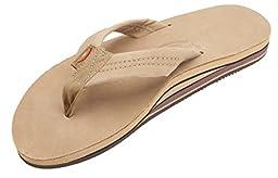 Rainbow Sandals Men Premium Leather Double Layer, Sierra Brown, Large