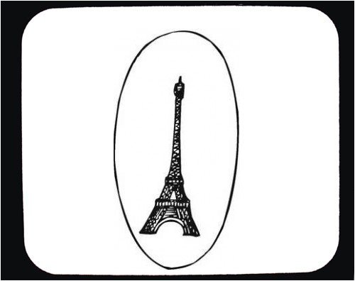 "Buy Mouse Pad with ""black and white"", France, ""Eiffel Tower"""