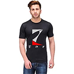Trendster Z Letter Printed Cotton Black T Shirt