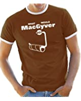 What would MacGyver do? Ringer / Kontrast T-Shirt S-XXL div. Farben