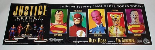 Justice League of America JLA Action Figures Series One 34 by 11
