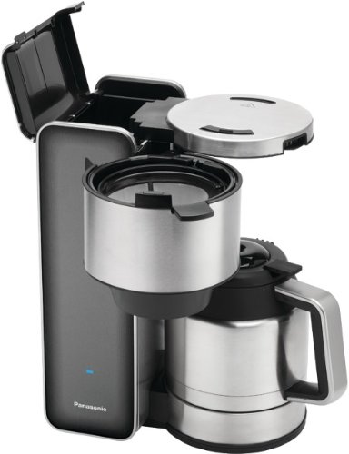Panasonic - Designer Coffee Maker (Smoke) - Product Description - Panasonic - Designer Coffee Maker (Smoke) 900W 8-Cup Capacity Aroma Selector Insulated Carafe Paperless Filter & Additional Tea Filter Water Gauge Rotating Base Blue Digital Timer ...