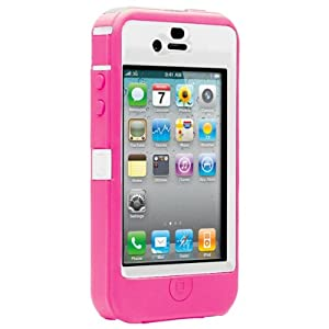 Otterbox Defender Case for iPhone 4 (White/Pink)