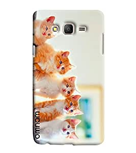 Omnam Three Cat Watching Some Other Designer Back Cover Case For Samsung Galaxy On 5