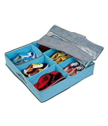 Everyday Desire 6 Pairs Shoes Storage Organizer Holder Shoe Organiser Box Under Bed Closet by Fabric