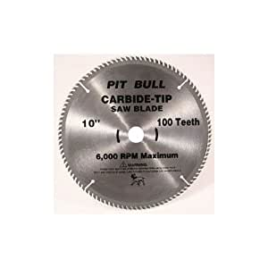 Pitbull chis177 100 10 inch x 100 tooth carbide circular for 10 inch table saw blades