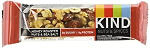 KIND Nuts & Spices MKcwE Bars, Honey Roasted Nuts / Sea Salt, 36 Count DqrEP