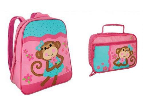 Stephen Joseph Go Go Backpack And Classic Lunchbox Set, Girl'S Monkey front-907349