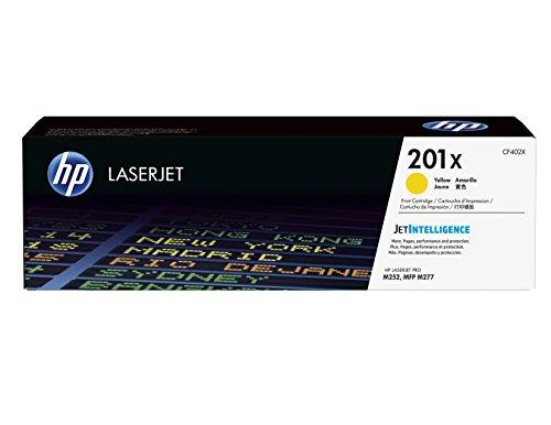 HP 201X (CF402X) Gelb Original Toner mit hoher Reichweite für HP Color Laserjet Pro M252, M274n, M277