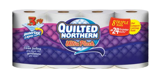 Quilted Northern Ultra Plush Triple Rolls 8 Rolls 6 Pack 48 Total Count