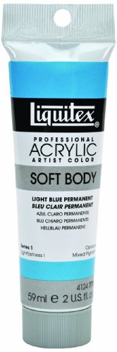 Liquitex Soft Acryl 2oz Light Blue Perm