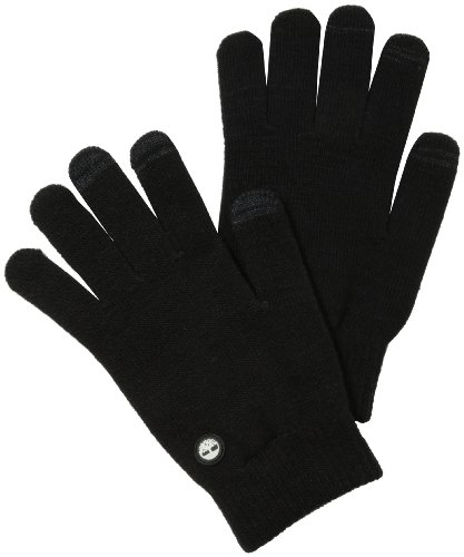 Timberland Men's Knit Magic Glove, Black, One Size
