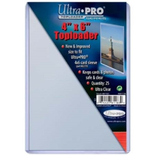 100 Ultra Pro 4x6 Postcard Photo Hard Rigid Ultra Clear Toploader (4x6 Top Loaders compare prices)