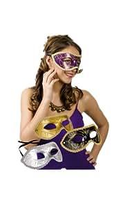 Augenmaske Maske mit Feder