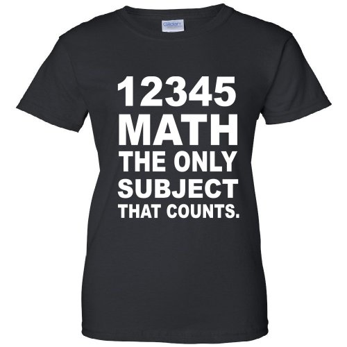 12345 Math The Only Subject That Counts Women's T-Shirt
