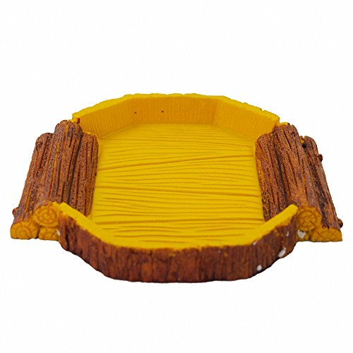 Reptile food bowl OMEM Reptile Habitat, Reptile breeding box,aquarium fish tank ornament , for including tortoise, insect,crickets ,crabs,other reptiles animal or amphibians (Trapezoid food bowl) (Box Turtle Habitat compare prices)