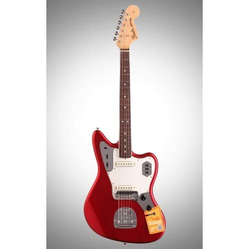 Fender (フェンダー) American Vintage \'65 Jaguar エレキギター, ローズウッド Frets, Candy Apple Red ギター アコギ ベース エレキギター アクセサリー (並行輸入)