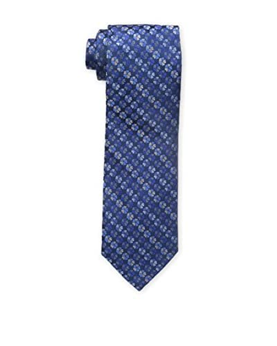 Bruno Piattelli Men's Floral Mini Flower Tie, Blue