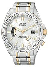 World Perpetual AT Men's Bracelet White Dial World Perpetual AT Men's Bracelet White Dial