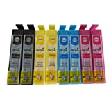 8 XL High Capacity ColourDirect Compatible Ink Cartridges for Epson Expression Home XP102, XP202, XP205, XP30, XP302, XP305, XP402, XP405 Printers 2 Black 2 Cyan 2 Magenta 2 Yellow