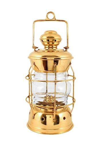 """Oil Lanterns - Brass Nelson Nautical Lamp 13.5"""" - Hurricane Oil Lamps"""