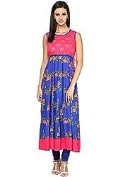 Akkriti by Pantaloons Women's A-Line Dress ( 205000005637747, Blue, Large)