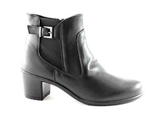 ENVAL SOFT 69200 nero scarpe donna stivaletti tronchetti zip fibbia 40