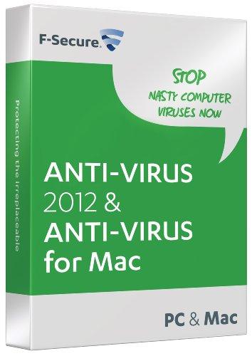 F-Secure Anti-Virus 2012 1 Year 3 User (PC/Mac)