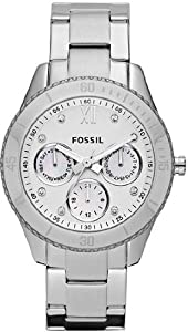 Mens Watch Fossil ES3098 Stainless Steel Case and Bracelet Silver Dial Chronogr Mens Watch Fossil