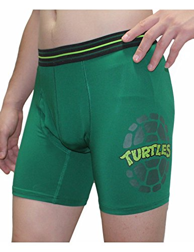 Mens TEENAGE MUTANT NINJA TURTLES Functional Open Fly Boxer Shorts XL Green