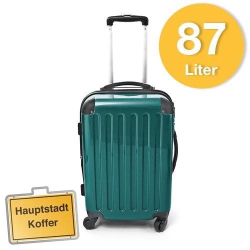 Hartschalen Koffer Waldgrün Hochglanz max.87