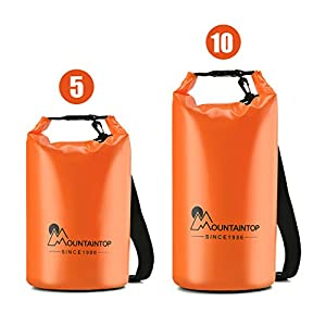 Mountaintop Waterproof Dry Bag Floating Dry Gear Bags for Boating, Kayaking, Fishing, Rafting, Swimming, Camping, Canoeing and Snowboarding