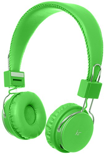 Kitsound Manhattan Bluetooth Wireless Over Ear Headphones With Mic - Green - Ksmhgn