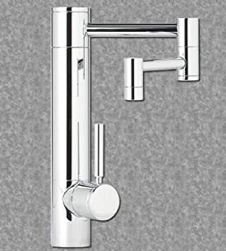 "Waterstone 3600-12-07 Biscuit Hunley Kitchen Faucet - 12"" Articulated Spout - Lever Handle"