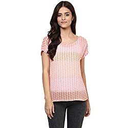 Candies by Pantaloons Women's Georgette Top (205000005554218_Pink_XS)