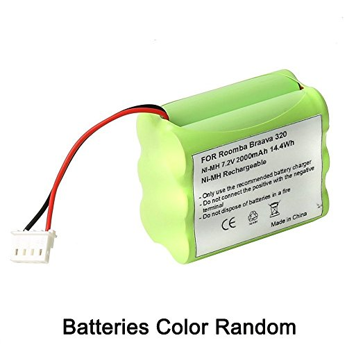 7.2v Ni-Mh Mint 4200 4205 GPHC152M07 Battery Replacement for iRobot Braava 320 321 Mint 4200 4205 Floor Cleaner Robot 4408927 (Mint Floor Cleaner Battery compare prices)