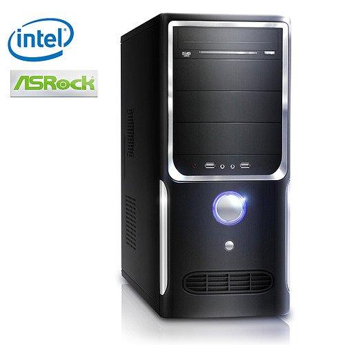 Leiser Office PC! CSL Speed 2126 Computer-System mit Intel Celeron Prozessor, 120GB HDD, 4GB DDR3 RAM, ASRock Mainboard, Intel GMA X4500, DVD-RW, 5.1 Sound, GigLAN, - Das perfekte Einstiegsmodell für den Heim und Büro-Bereich