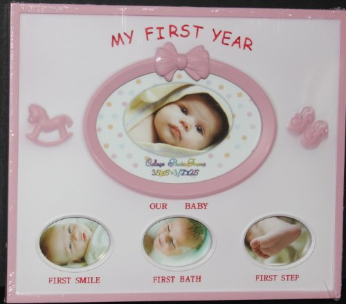 Baby Photo Frame - My First Year PINK