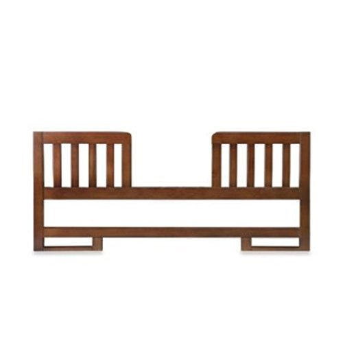 Karla DuBois Baby Toddler Bed Conversion Rail Kit, 2-Tone Finish, Coco/White - 1