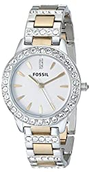 Fossil Women's ES2409 Jesse Two-Tone Stainless Steel Watch with Link Bracelet