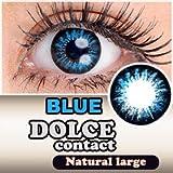 処方箋不要 ドルチェ ( DOLCE ) ナチュラルラージ カラー コンタクト レンズ 度なし ブルー ランキングお取り寄せ