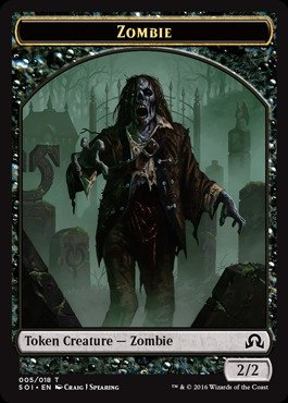 Magic: the Gathering - Zombie Token (005/018) - Shadows Over Innistrad