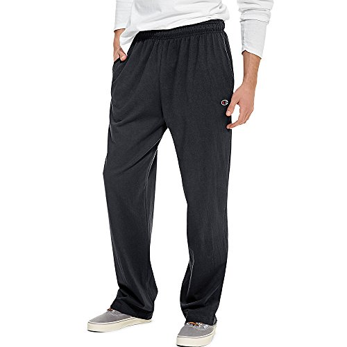 Hanes P7309 Mens Open Bottom Jersey Pants, Granite Heather Grey - Extra Large