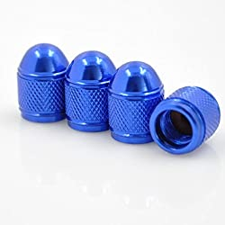 See Dreamer Car Tire Valve Stems Caps Blue Bullet Style Tire Valve Cap 4pcs Details